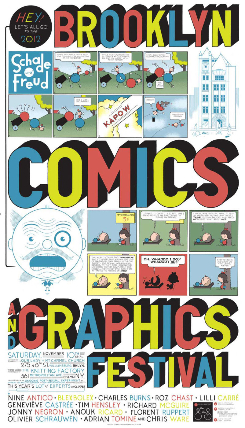 Brooklin Comics and Graphics Festival e Small Press Expo, por Chris Ware