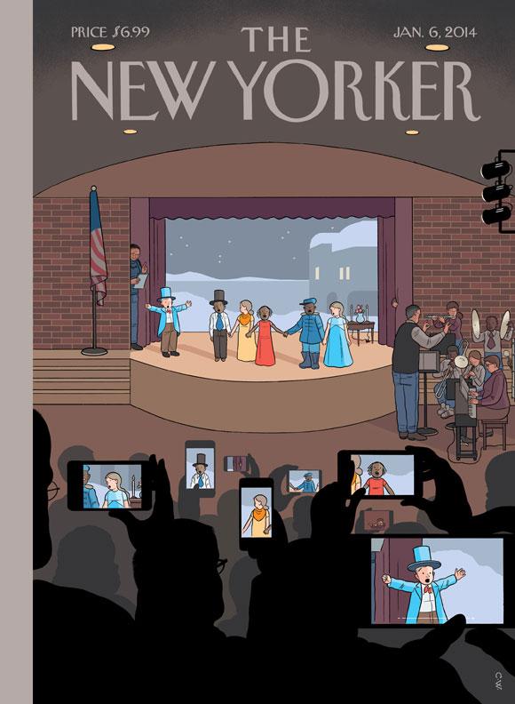 A nova capa do Chris Ware pra New Yorker