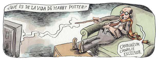 Como anda a vida de Harry Potter?, por Liniers