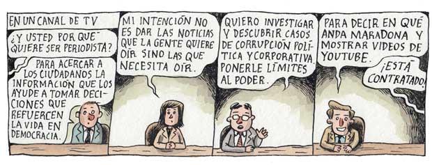 Liniers e os jornalistas