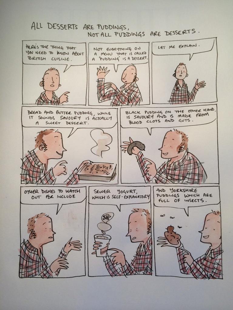 Uma introdução em quadrinhos à cozinha britânica, por Dan Berry