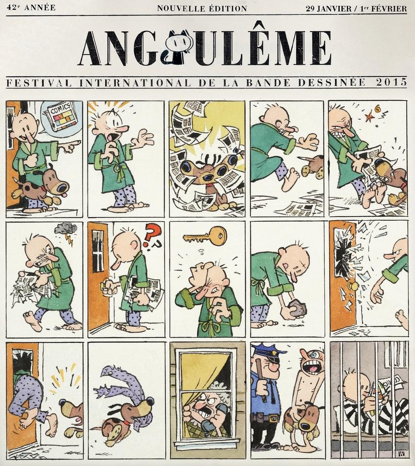 O cartaz de Bill Watterson para a edição de 2015 do Festival de Angoulême