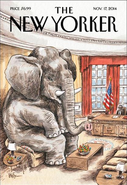 Outra capa do Liniers para a New Yorker