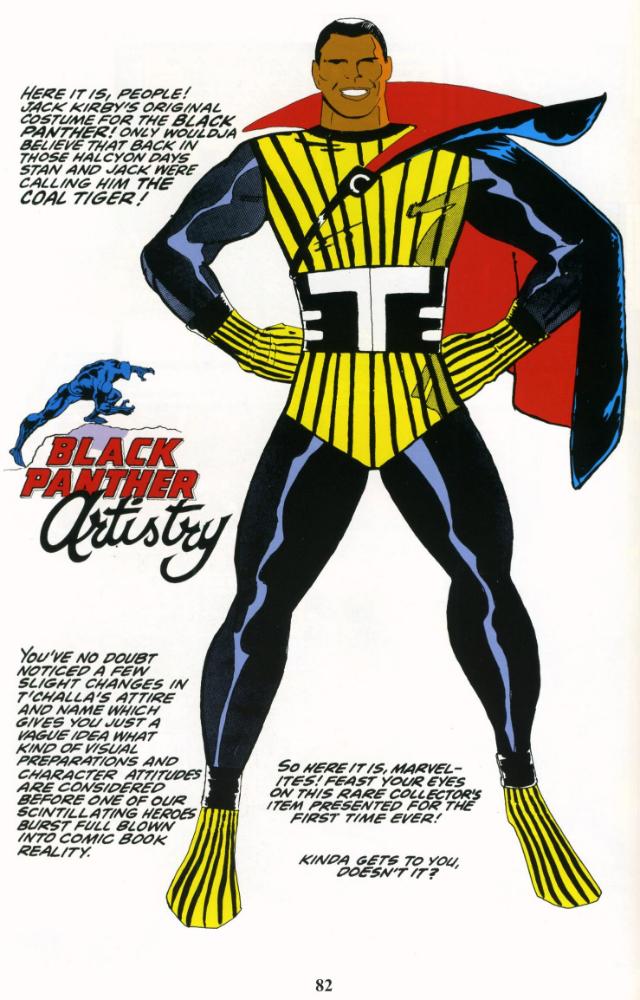 O conceito original de Jack Kirby para o Pantera Negra