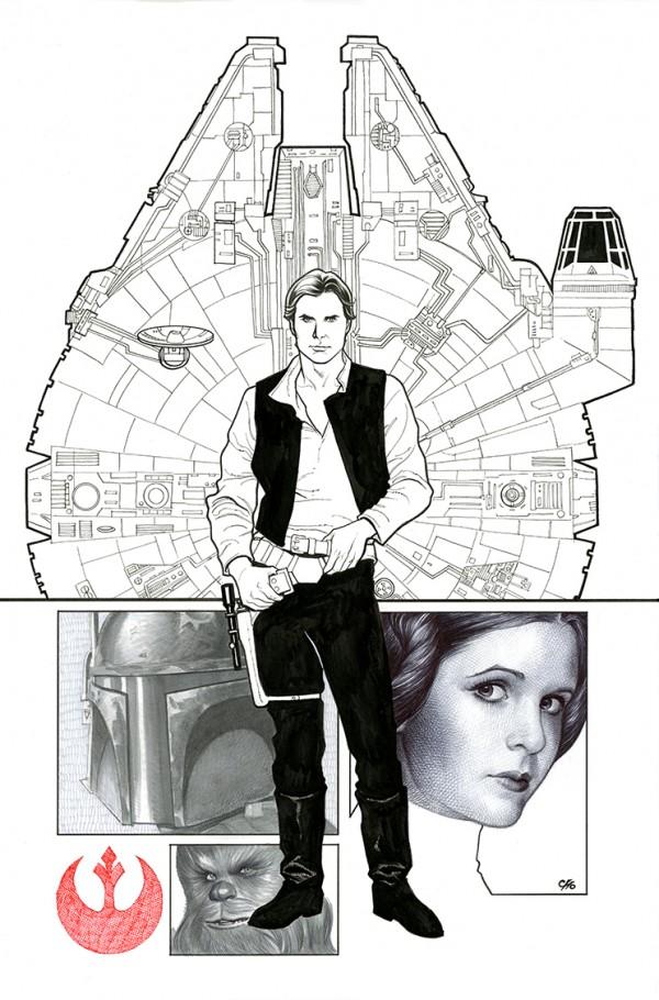 Star Wars, por Frank Cho