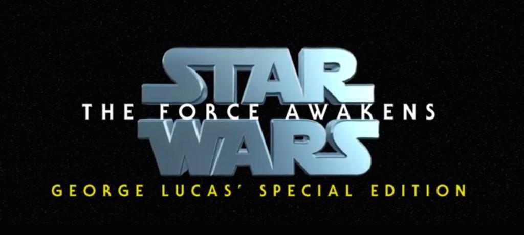 A versão especial de George Lucas para o trailer de Star Wars: O Despertar da Força