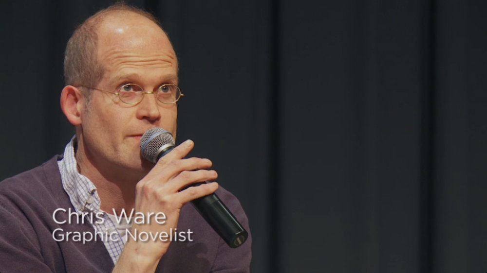 Uma hora de conversa com Chris Ware sobre quadrinhos e arte