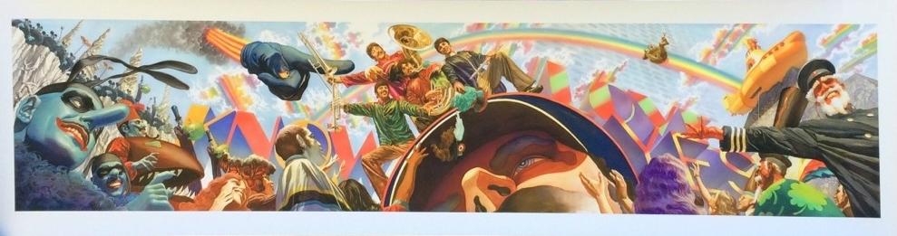O Yellow Submarine dos Beatles no traço de Alex Ross