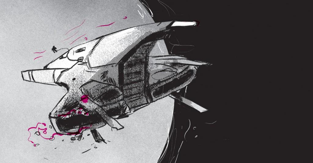 A nave do protagonista de Mikrokosmos