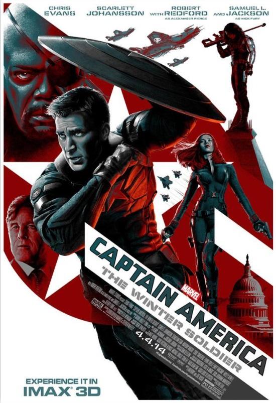 O pôster para Imax de Capitão América 2 – O Soldado Invernal