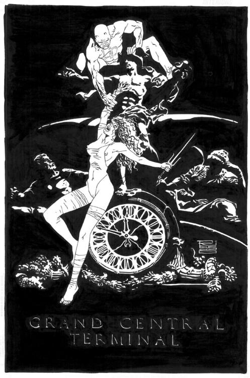 Demolidor e Elektra por Edurado Risso