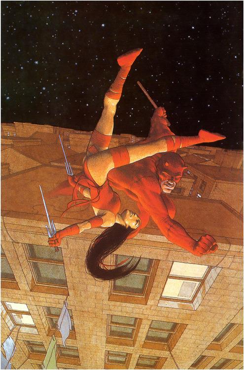 Demolidor X Elektra, por Frank Quitely