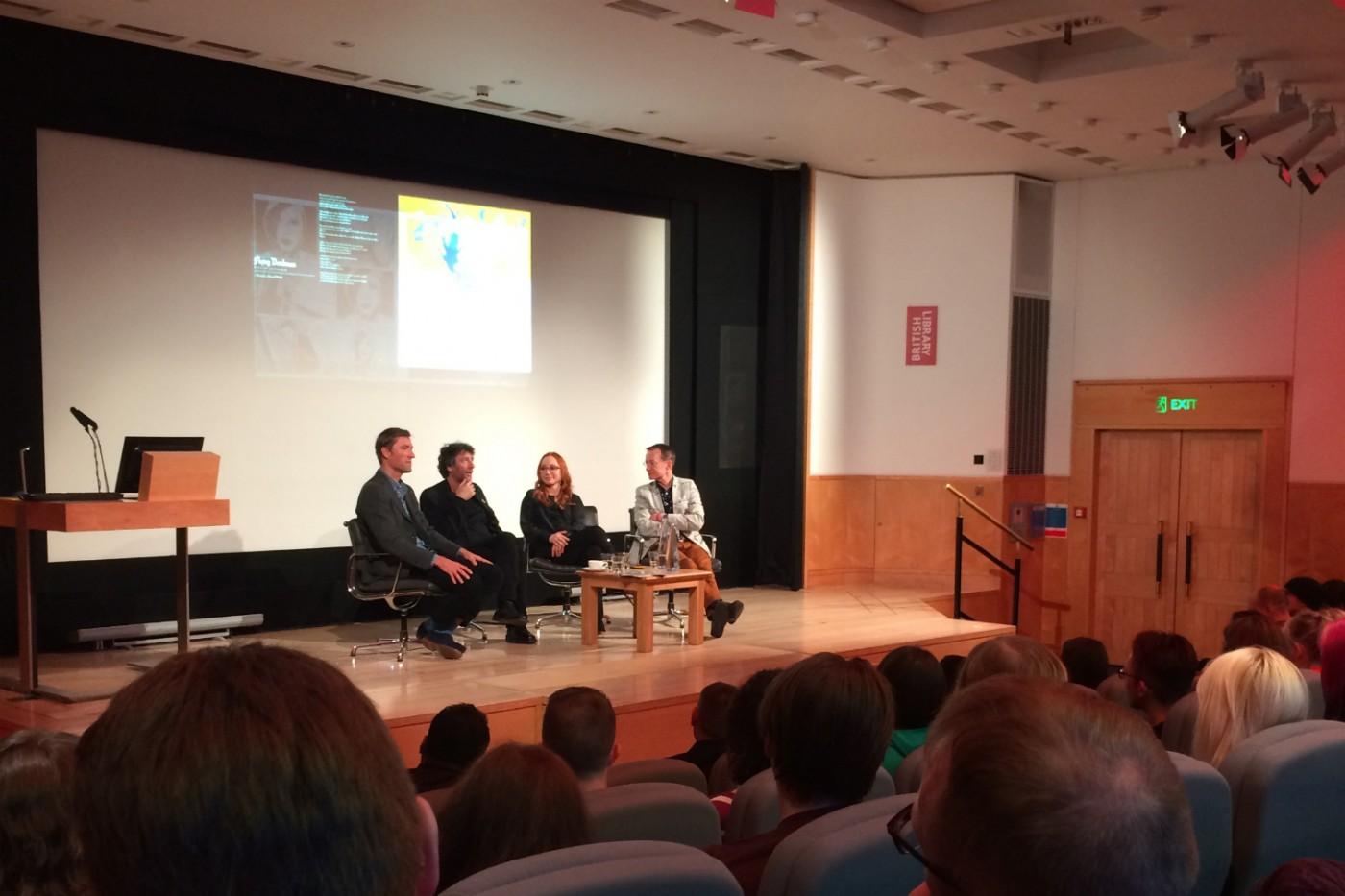 Neil Gaiman e Tori Amos na British Library