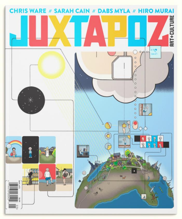Chris Ware na capa da edição de maio da Juxtapoz