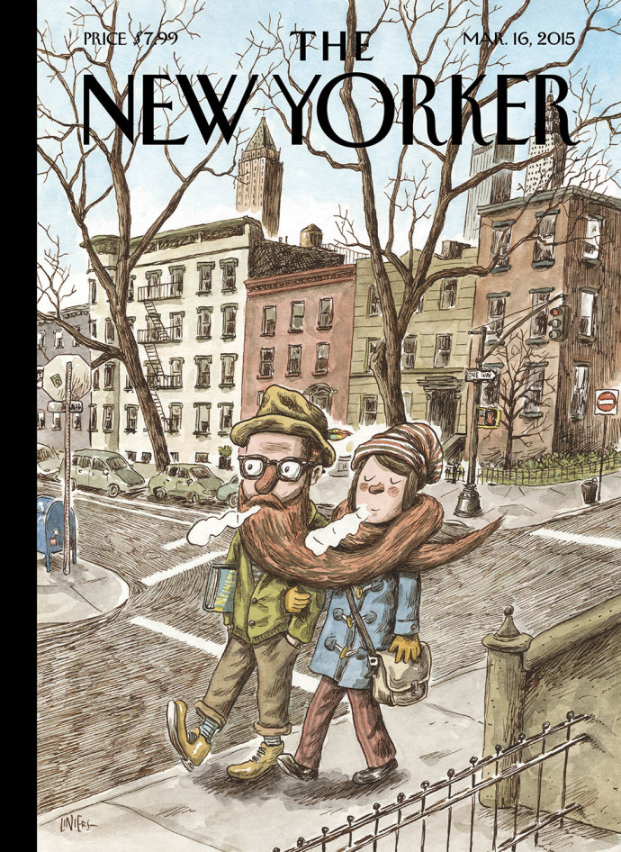Liniers e os hipsters na capa da New Yorker