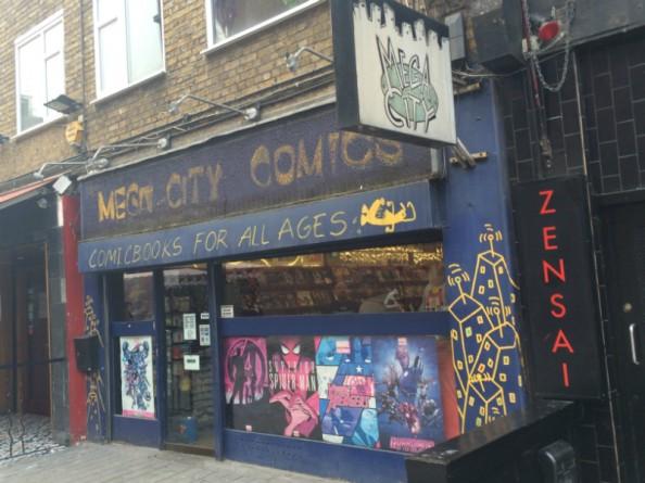 Mega City Comics: a loja de quadrinhos de Camden Town