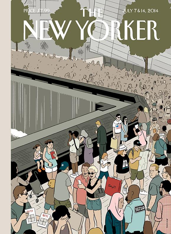 A nova capa do Adrian Tomine pra New Yorker