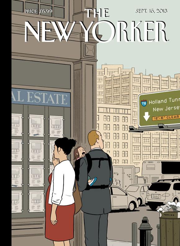 Adrian Tomine e a bolha imobiliária na capa da New Yorker
