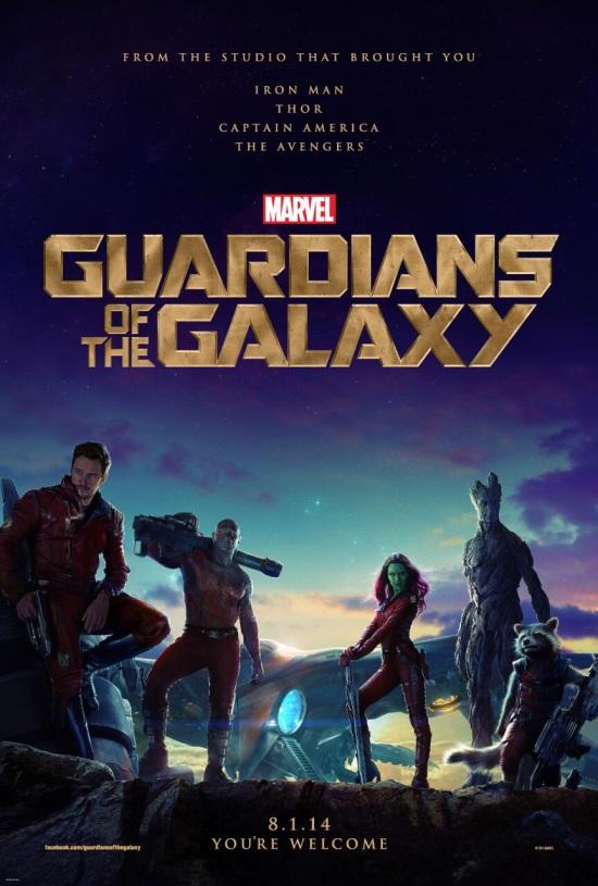 O pôster (com trilha sonora) de Guardiões da Galáxia