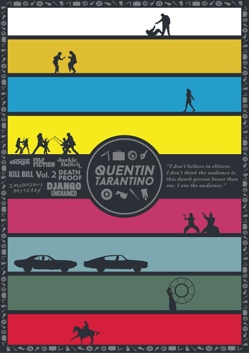 Todos os filmes de Quentin Tarantino em um único pôster