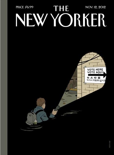 Adrian Tomine na capa da New Yorker