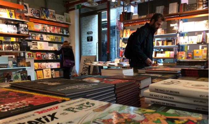 As lojas de quadrinhos de Londres