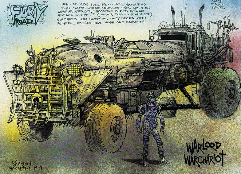 As artes conceituais de Brendan McCarthy para Mad Max: Estrada da Fúria