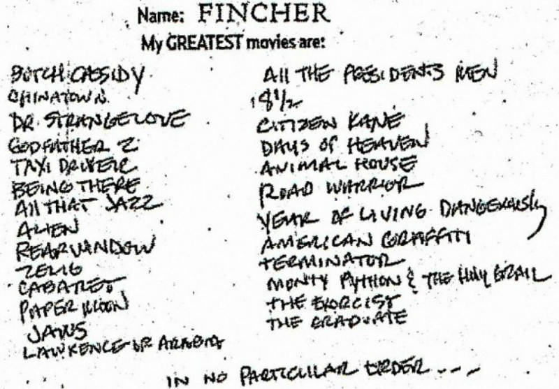 Os 26 filmes preferidos de David Fincher