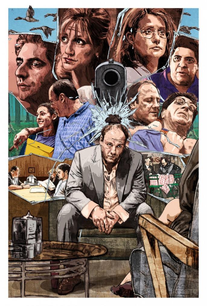 Os Sopranos, por Matthew Brazier
