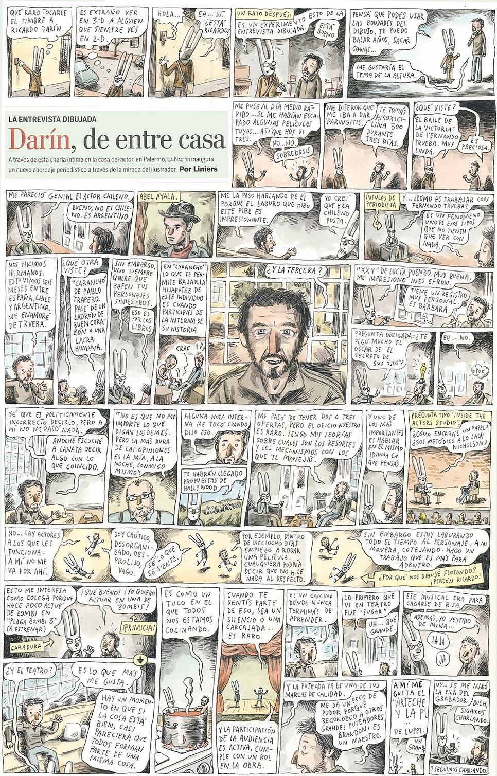 Entrevista de Liniers com o ator argentino Ricardo Darín