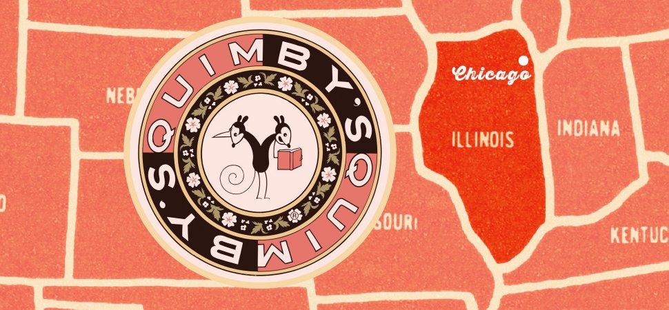 Chris Ware e o logo da Quimby's