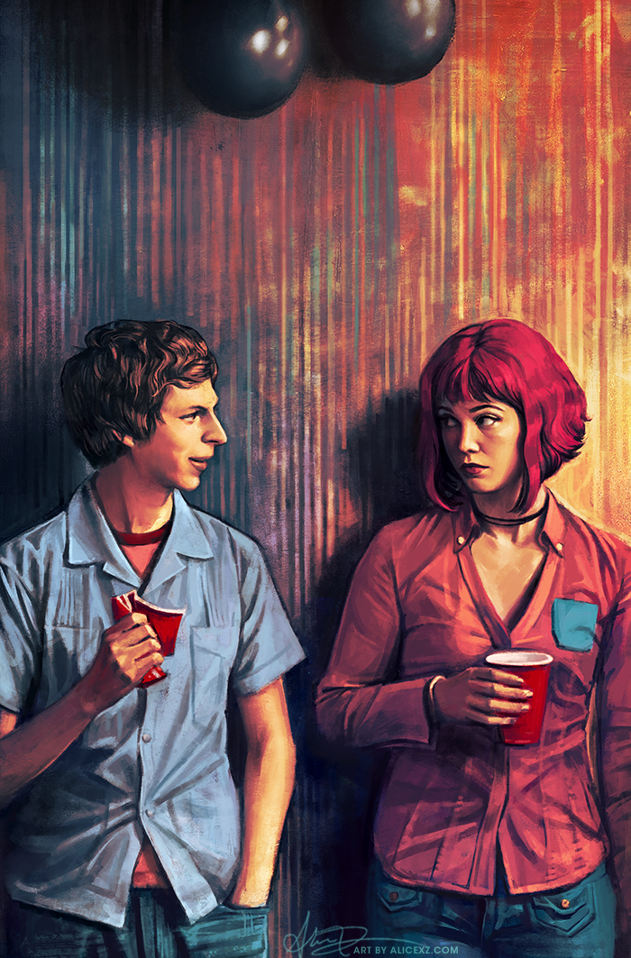 O primeiro contato de Scott Pilgrim com Ramona Flowers, por Alice X. Zhang