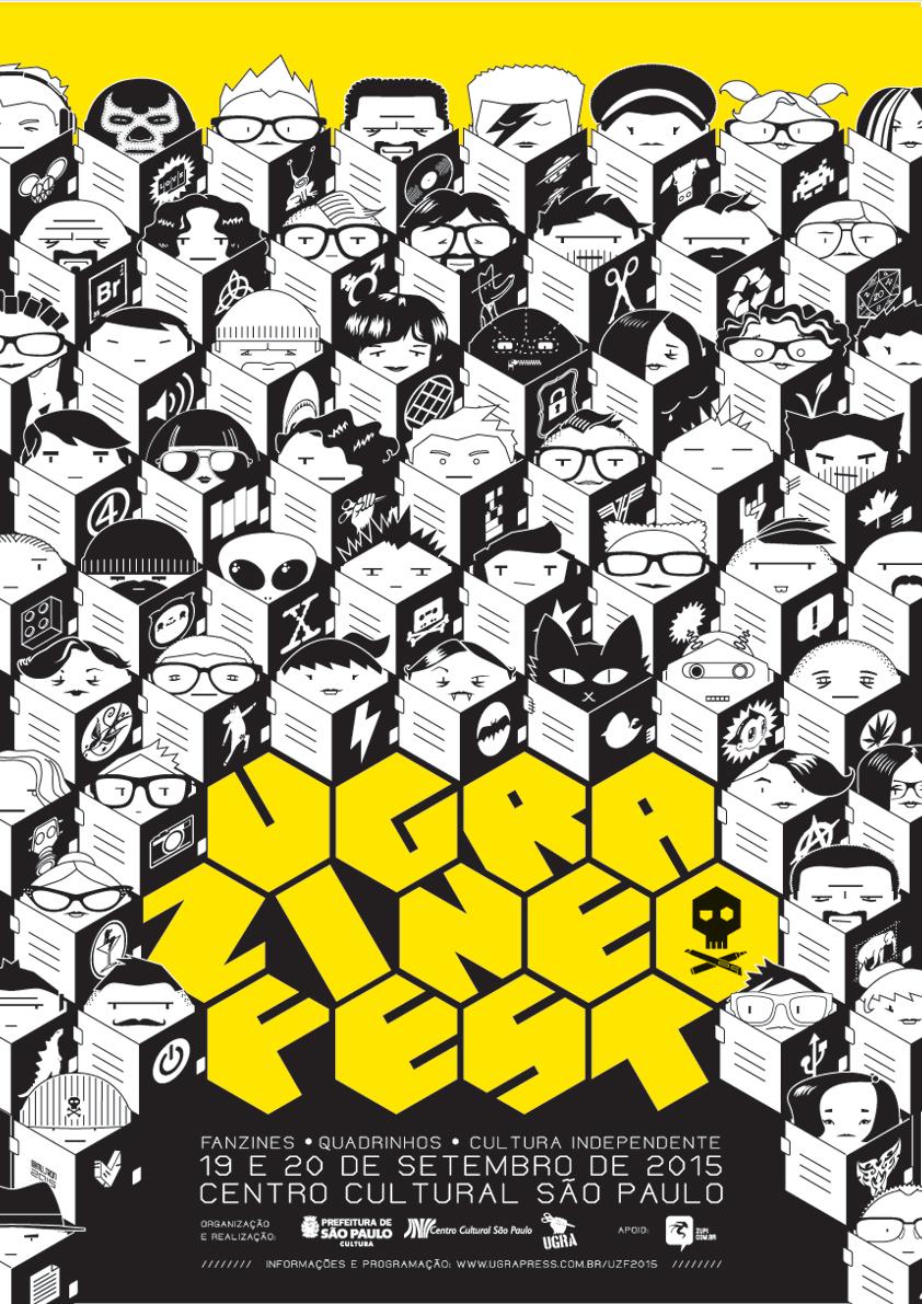 O making-of de Murilo Martins para o cartaz da Ugra Zine Fest 2015