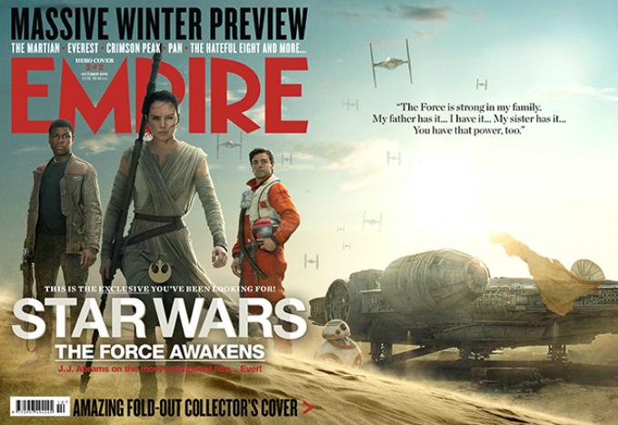 As capas da Empire para Star Wars: Episódio VII – O Despertar da Força