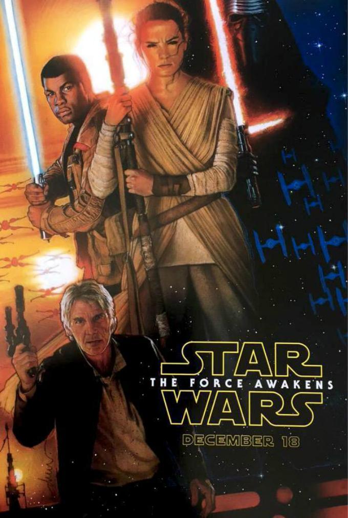Star Wars: Episódio VII – O Despertar da Força, por Drew Struzan