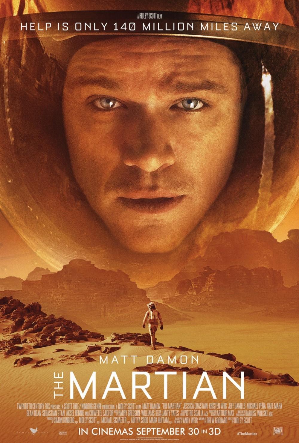 The Martian: falta quase um mês para a estreia do filme de Ridley Scott