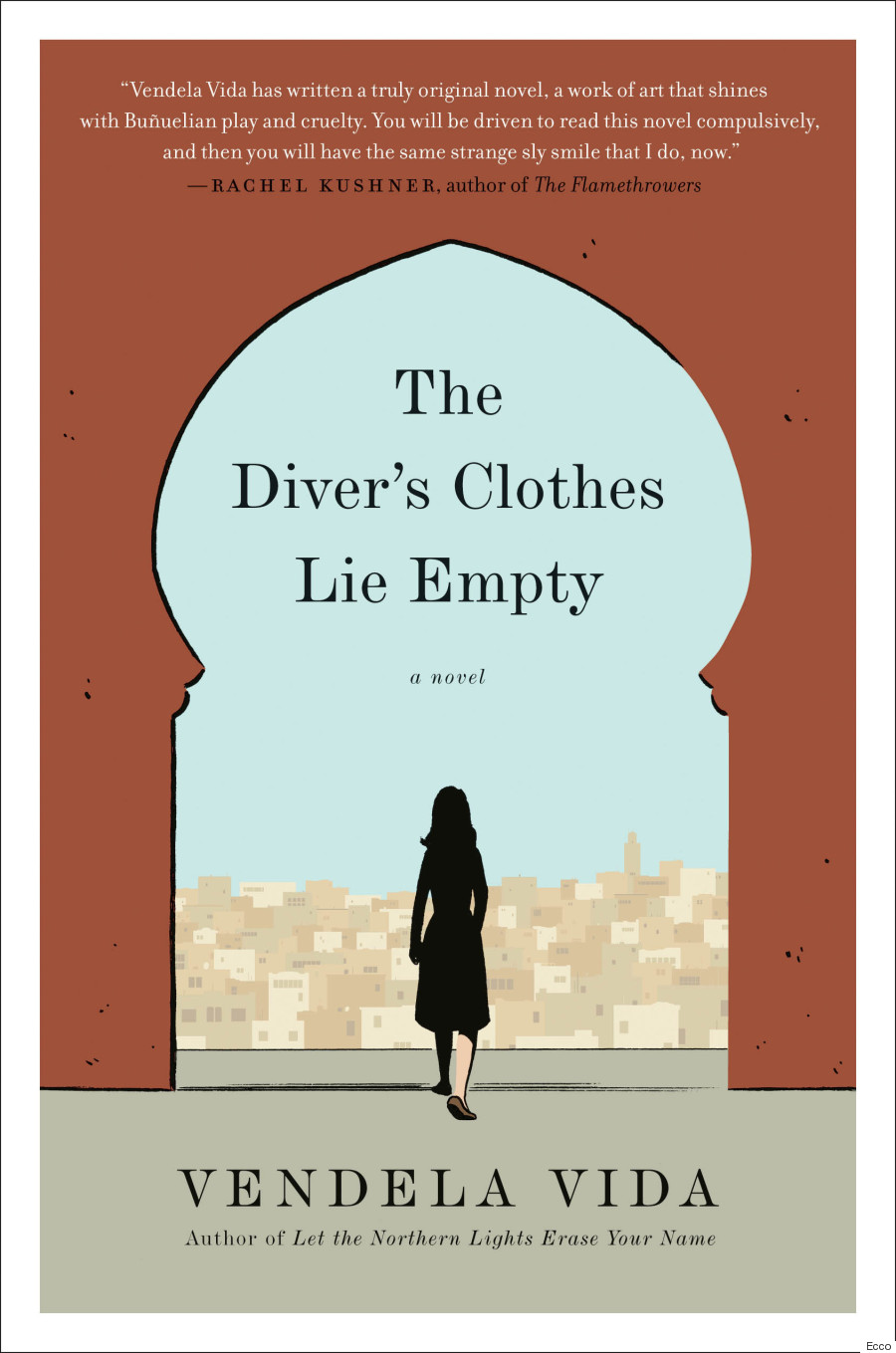 A capa de Adrian Tomine para The Diver's Clothes Lie Empty