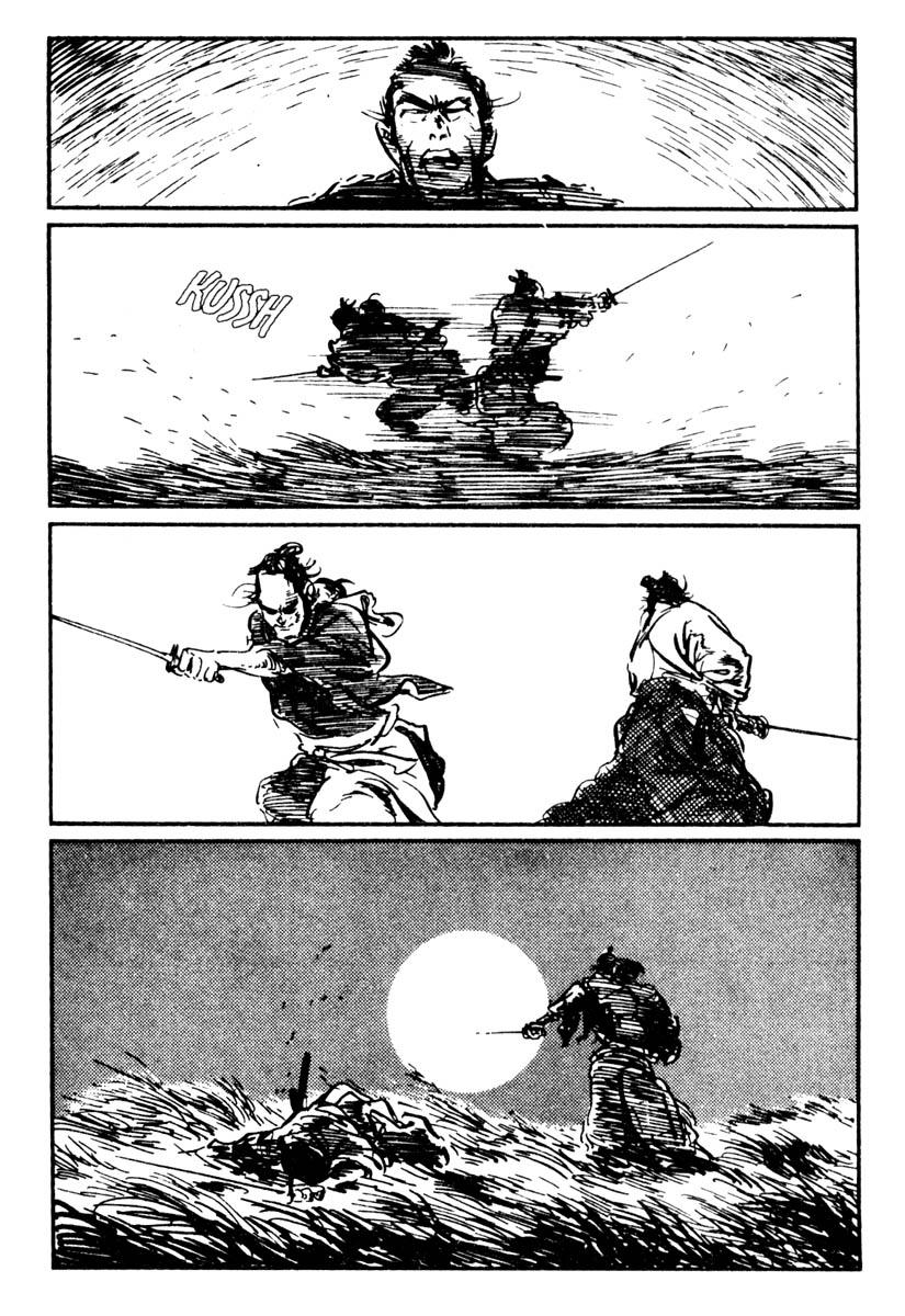 Uma página de Lobo Solitário