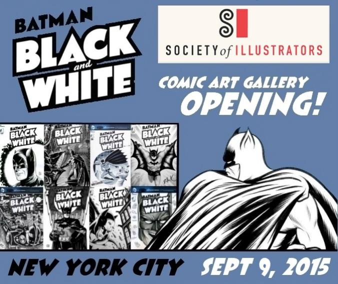 A coleção de capas de Batman: Black and White do Chip Kidd em exposição