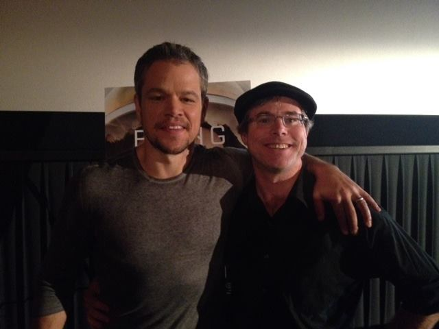 The Martian - Andy com Matt Damon durante evento de divulgação do filme