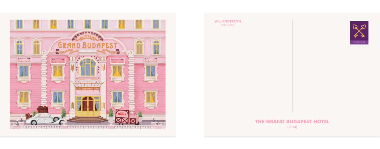 Os postais do Universo Wes Anderson