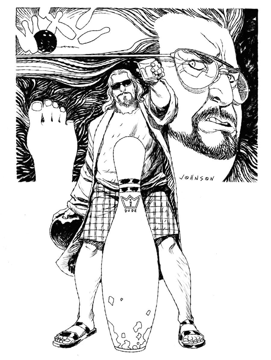 O Grande Lebowski, por Dave Johnson