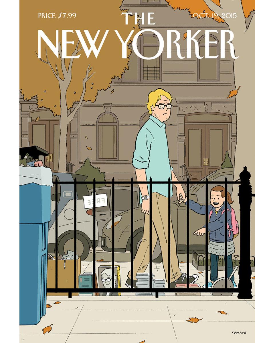 Adrian Tomine e os dramas de um autor moderno na capa da New Yorker