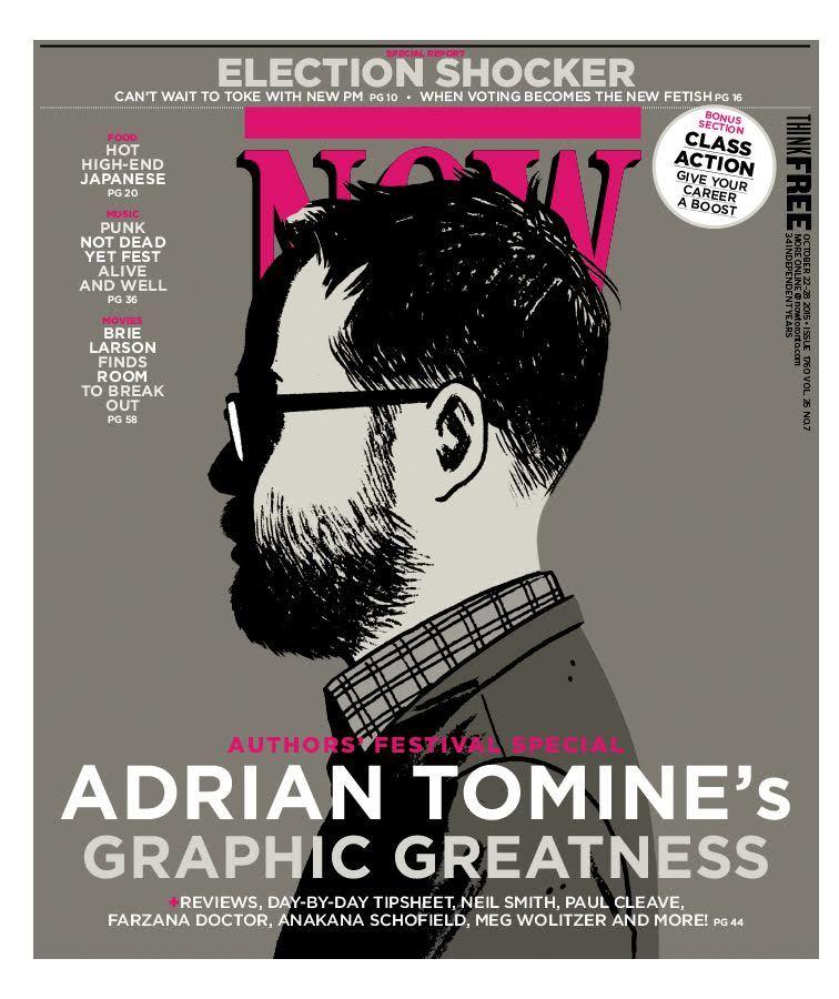 Adrian Tomine na capa da revista Now