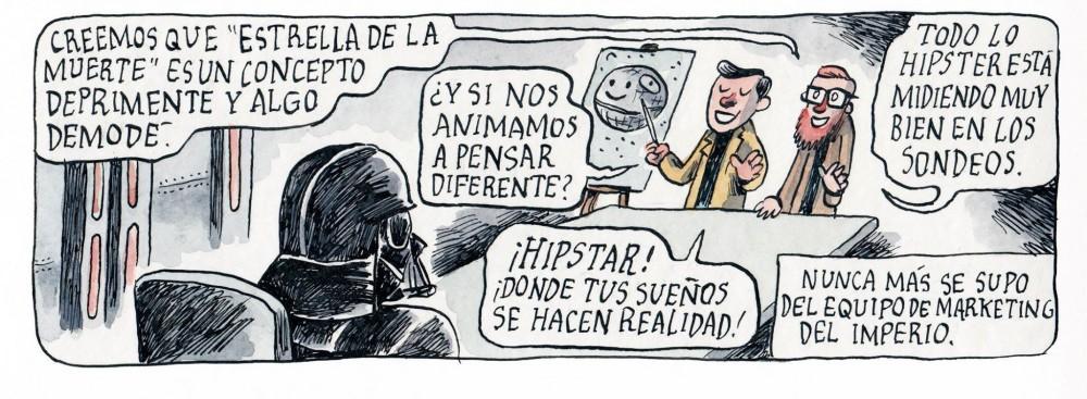 Liniers e a Estrela da Morte hipster
