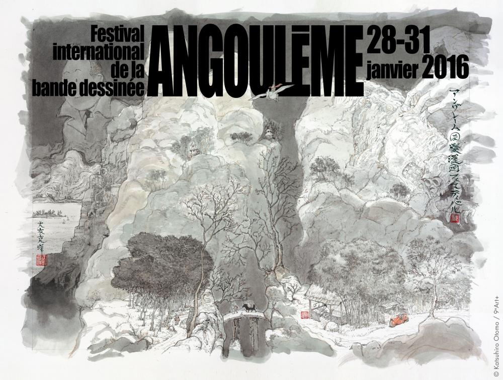 O pôster de Katsuhiro Otomo para a edição de 2016 do Festival de Angoulême