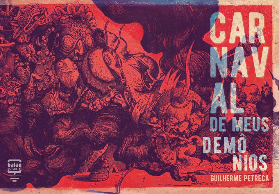 A capa de Carnaval de Meus Demônios, a nova HQ de Guilherme Petreca
