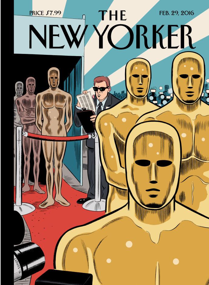 Daniel Clowes e o Oscar na capa da próxima edição da New Yorker