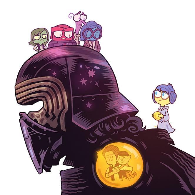 Star Wars: Episódio VII – O Despertar da Força X Inside Out, por Dan Hipp