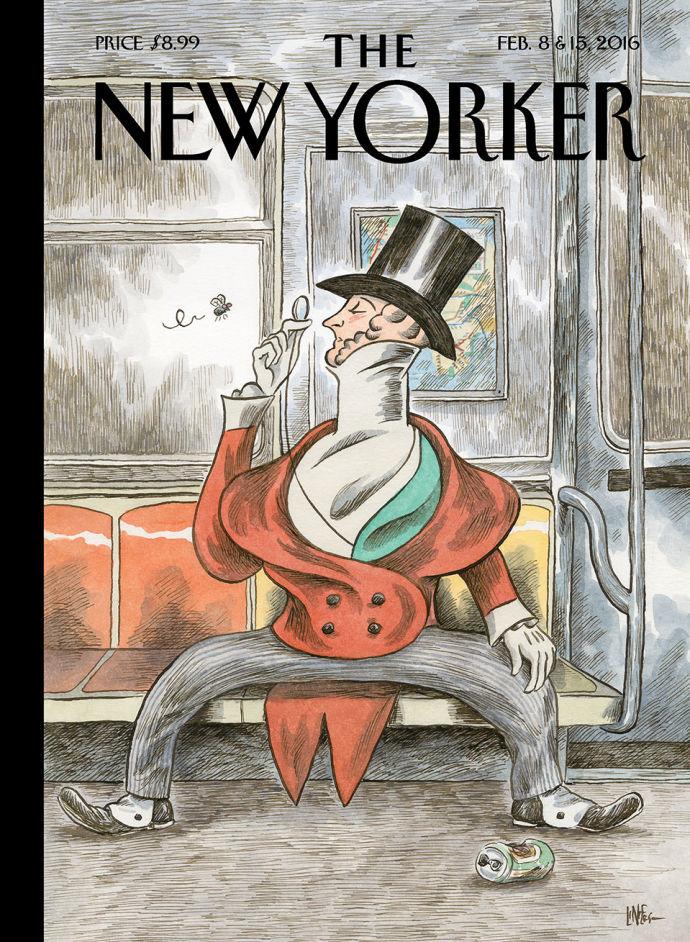 Liniers na capa da edição de aniversário de 91 anos da New Yorker